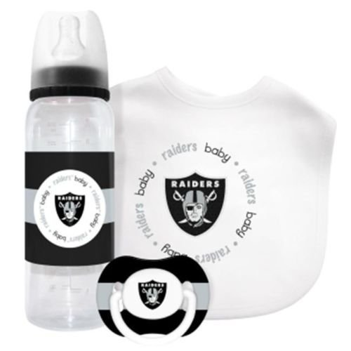 Oakland Raiders Baby Gift Set - 3 piece infant Combo by Baby Fanatic