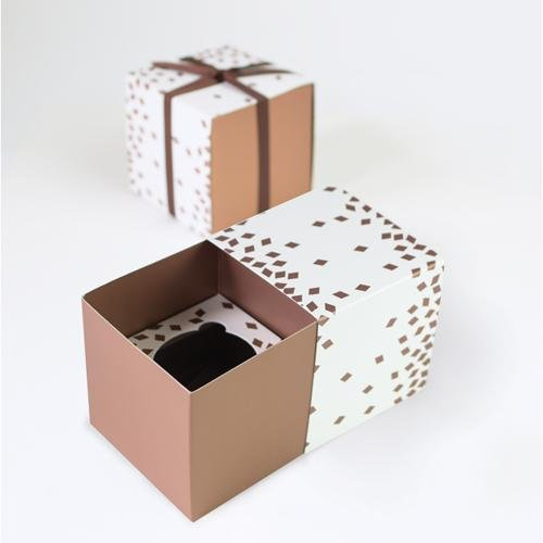 Paper Eskimo Cupcake Box (Pack of 6), Geo Rose Gold CBRG4731