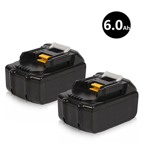 Sytechz 2Pack 18V 6.0Ah LXT Lithium-Ion Battery for Makita BL1860-2 BL1830 BL1840 BL1850 LXT-400 Cordless Power Tools by Sytechz