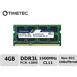 Timetec Hynix IC 4GB DDR3L 1600MHz PC3L-12800 Unbuffered Non-ECC 1.35V CL11 2Rx8 Dual Rank 204 Pin SODIMM Laptop Notebook Computer Memory Ram Upgrade (Dual Rank 4GB)