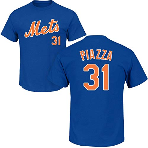 Outerstuff Mike Piazza New York Mets #31 Youth Player Name & Number T-Shirt Blue (Youth Large 14/16)