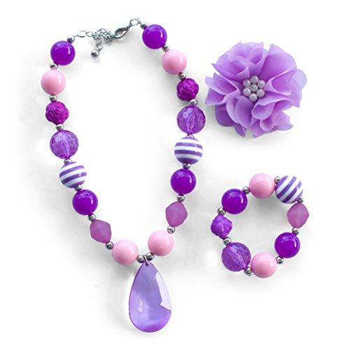 Bubblegum Necklace   Accessories for Girls   Sofia   Chunky Necklace (Purple) (Adult Princess Bubblegum Costume)