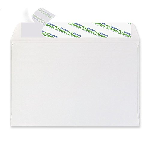 6 X 9 Booklet Envelopes Self Seal - Heavy-Duty 28 Pound White Envelopes 6x9 - Open Side Peel & Seal Envelopes (Pack of 50) - 6x9 Invitation Envelopes for Booklets, Letters, and Brochures by EnDoc