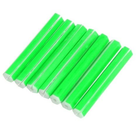 Euphony Arrivo bicicletta raggi fluorescenza luce riflettente tubo clip Bike cerchione in filo di acciaio (verde) Quality