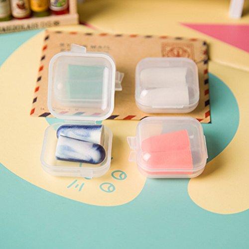 OBELLA BOUTIQUE Candy Ear plugs Protector Working Earplug Foam Plastic Box Packaging Anti Noise Sleep Study Helper 1 Pair