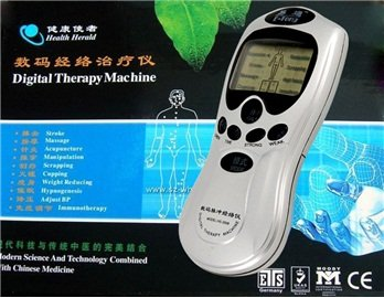Médecine chinoise Pulse & Meridian Digital Therapy Machine (Silver)