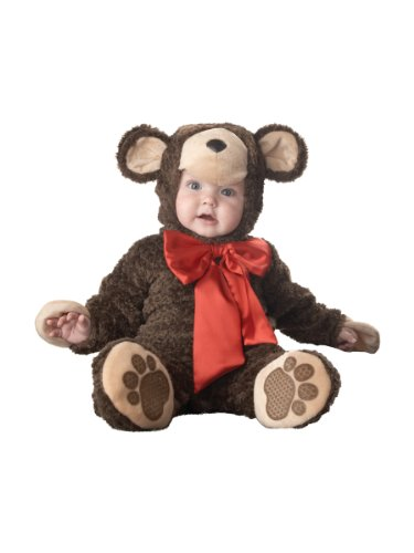 Teddy Bear Costume Baby (InCharacter Costumes Baby's Lil' Teddy Bear Costume, Brown, Medium)