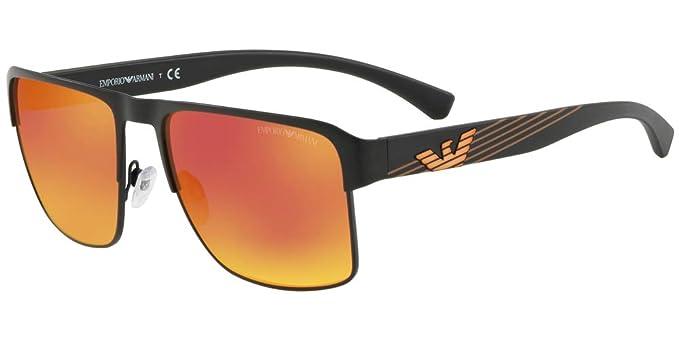 a4df139e0263 Image Unavailable. Image not available for. Color  Emporio Armani EA2066  30016Q Matte Black EA2066 Square Sunglasses ...