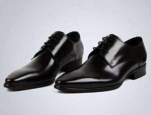Zapatos Clásicos de Piel para Hombre Zapatos de cuero para hombres Ropa formal de negocios Calzado con cordones Zapatos impermeables de estilo británico ( Color : Red-brown , Tamaño : EU38/UK5.5 ) Negro