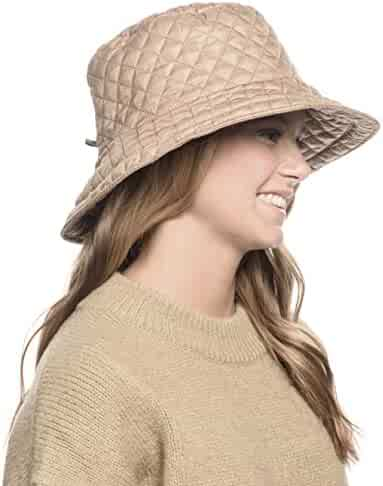 cb60da17c49f8 ANGELA   WILLIAM Foldable Water Repellent Quilted Rain Hat w Adjustable  Drawstring
