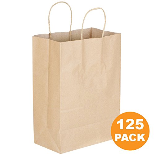 Kraft Paper Bags with Handles 13 x 10 x 5