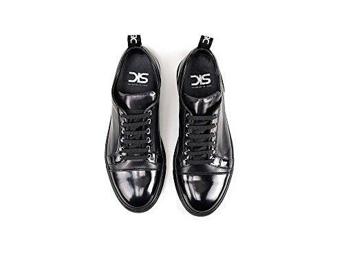 in personalizzate made Bassa Le in tue Pietro pelle Nero Sneakers 100 Italy sneaker Unisex basse nere DIS e TqvWcfBCc