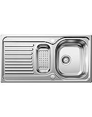 Blanco Toga 512639 Basic köksbänk, rostfritt stål naturlig finish, inkl. restskål,