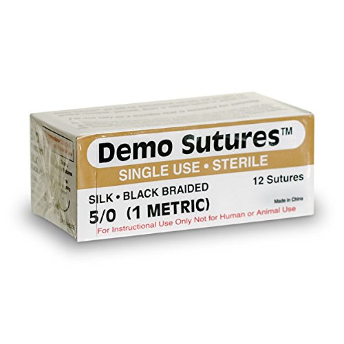 Demo SuturesTM - Size 3/0 with 1/2 Circle Curved Cutting Needle (19 - Circle 1/2 Needles