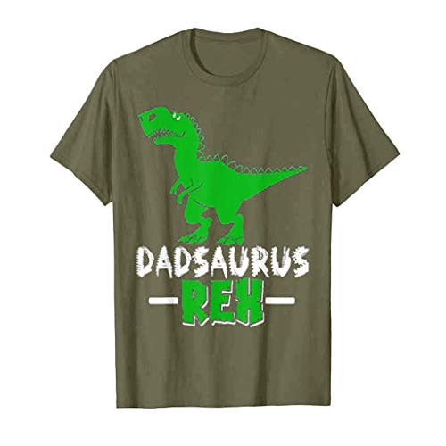 Zackate Men's Casual Solid Color Dinosaur Print Short Sleeve T-Shirts Sporty Cute Tees Tops