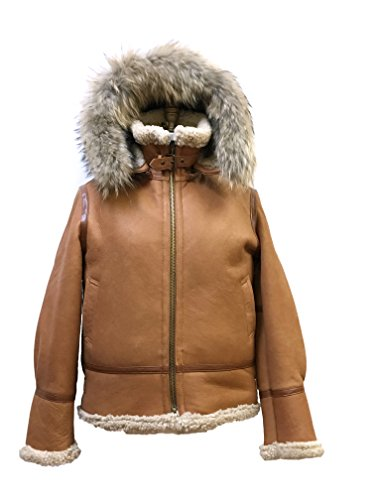 Women Genuine Shearling Bomber B-3 Jacket Winter Coat for sale  Delivered anywhere in USA