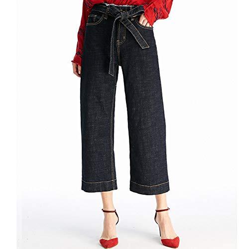 MVGUIHZPO Jeans Femme Neun Punkte Jeans, Neue Jeans, Weite Beinhosen, lockere Freizeitschnrsenkel neun Punkte. L