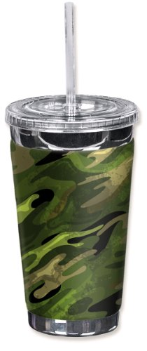 Mugzie brand 16-Ounce To Go Tumbler with Insulated Wetsuit Cover - Elk