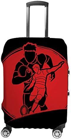 スーツケースカバー ラグビー選手 伸縮素材 キャリーバッグ お荷物カバ 保護 傷や汚れから守る ジッパー 水洗える 旅行 出張 S/M/L/XLサイズ