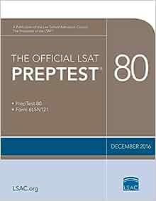 The official lsat preptest 80 dec 2016 lsat law school the official lsat preptest 80 dec 2016 lsat law school admission council 9780998339702 amazon books malvernweather Image collections
