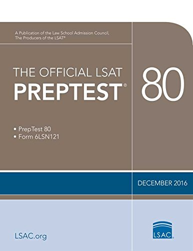 The Official LSAT PrepTest 80: (Dec. 2016 LSAT) cover