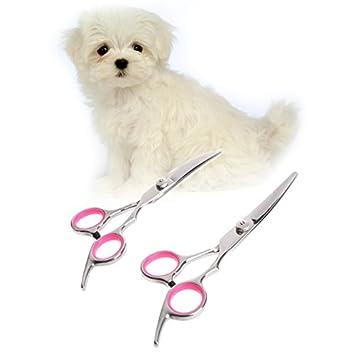 Tijeras de Acero Inoxidable Curvado para Mascotas, para Cortar el Pelo de Perro, Gato, Tijeras curvadas o de plumón: Amazon.es: Juguetes y juegos