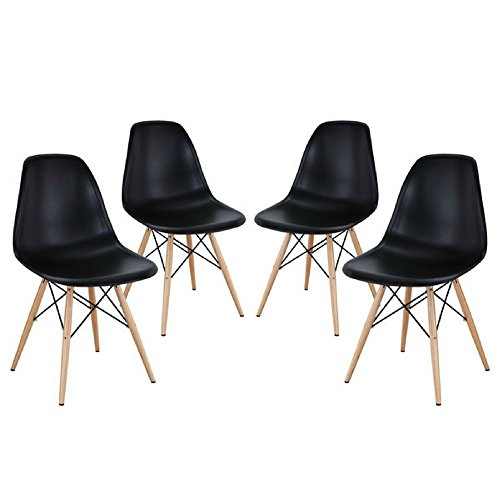 Mid Century Modern Eames Style Chairs 4 Pack