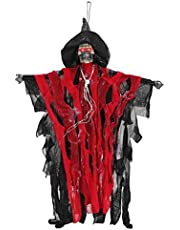 Elektrische Heks Prop Opknoping Rood Kleden Spookhuis Griezelig Uitziende Party Props Halloween Decoratie