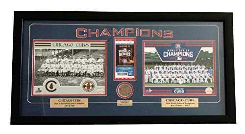CHICAGO CUBS GAME 7 WORLD SERIES GAME USED DIRT/TICKET FRAMED CHAMPIONS 2016 from Inscriptagraphs