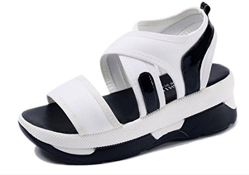Fight sandals Female Fish Female shoes ZCH color mouth Roman 37 Comfortable Loose New white Simple qw7nSRnE