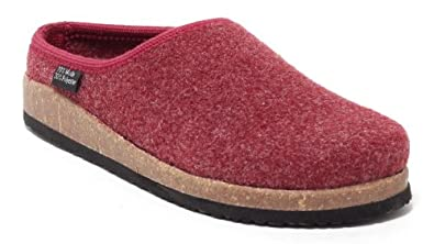 finest selection 1ecf5 486fc Damen Filzclogs Hausschuhe/Pantoffeln (bordeaux) Gr. 38-41