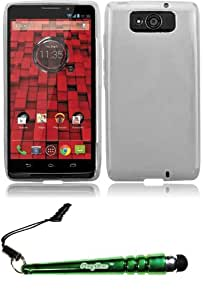 FoxyCase(TM) FREE stylus AND For Motorola Droid Ultra XT-1080 Frosted TPU Cover Case - Clear cas couverture
