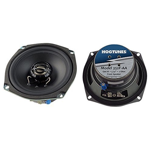 Hogtunes 352F-AA Replacement Front Speaker (Gen3 5.25'' for 2006-2013 Harley-Davidson FLH Touring Models)