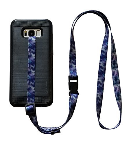 foneleash 3 in 1 Universal Cell Phone Lanyard Neck Wrist and Hand Strap Tether (Cosmic Galaxy)