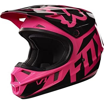 Fox Racing 2017 Race Youth V1 Motocross Motorcycle Helmet - Pink / Medium