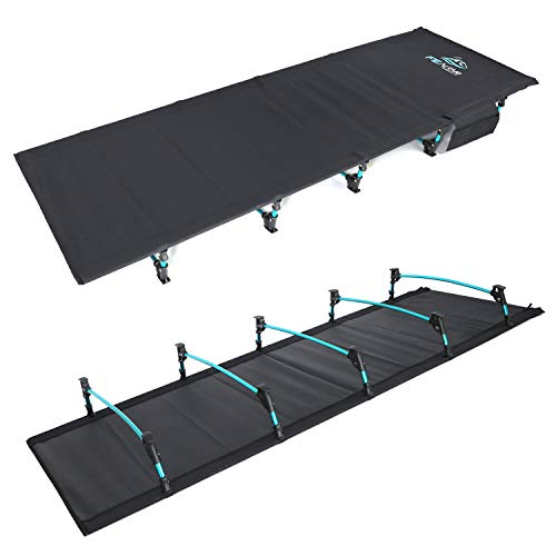 FE Active – Compact Folding Cot Built with Full Aluminum Designed as Ultralight Portable Camping Bed for Camping, Hiking, Trekking, Backpacking Designed in California, USA