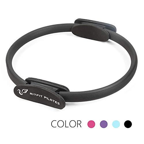 RitFit Pilates Ring - Premium Power Resistance Full Body Toning Fitness Circle - with Carrying Bag and Bonus eBook(Black)