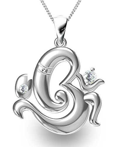 Buy exxotic religious 925 silver om ganesha pendant jewellery for exxotic religious 925 silver om ganesha pendant jewellery for men and women aloadofball Images