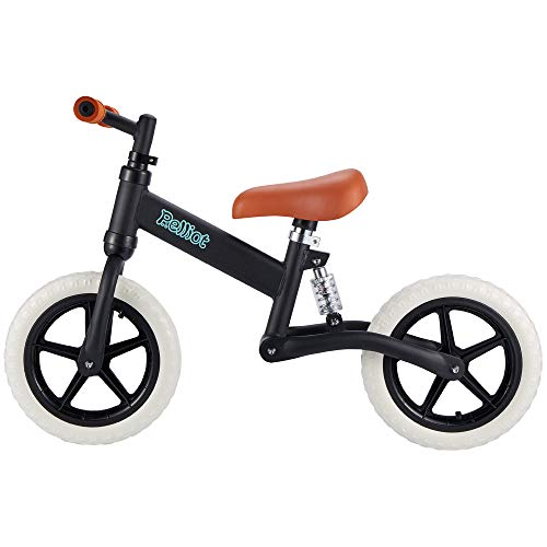 PELLIOT Balance Bike, Push Bike 12″ Wheels No Pedal Toddle Bike for 2-6 Old Boys & Girls