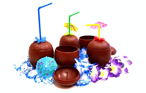 Coconut Party Cups (Coconut Cups, Tiki Bar Coconut Cups, By Dondor (12))