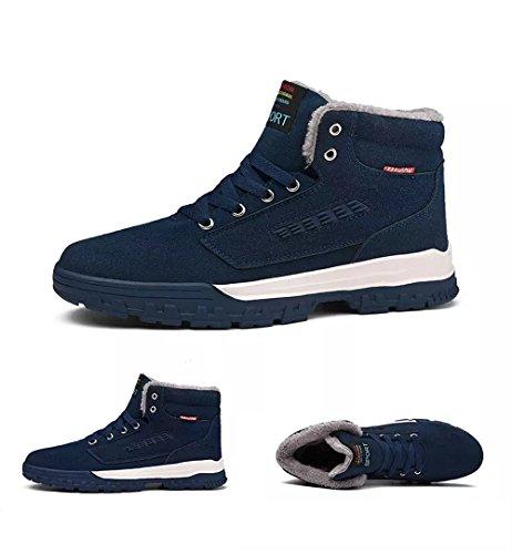 Scarpe da Neve Uomo Donna Classico Scarponi Invernali Piatto Pelliccia Stivali Sneaker Outdoor Impermeabile Caldo Scarpe Piatto Verde