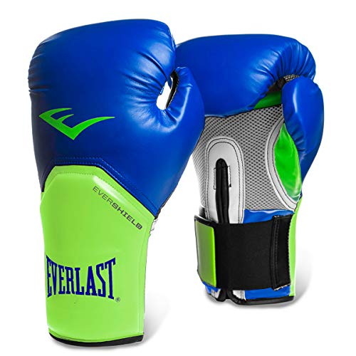 Luva Pro Style Elite Everlast Azul/Verde 12 Oz