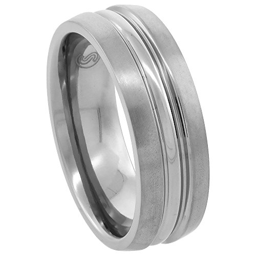 Titanium Wedding Polished Convex Comfort fit