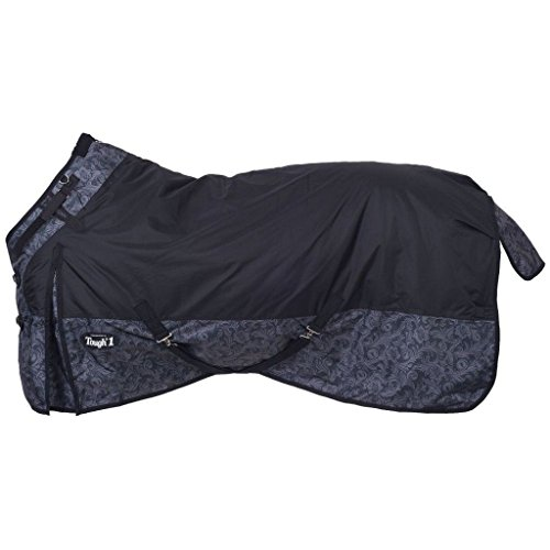 Tough-1 1200D Snuggit Tooled Leather Blanket 75 Bl (Tough One Horse Blanket)