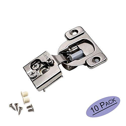 """goldenwarm Soft Close Cabinet Hinges Concealed - SCH12SNB 1/2"""" Soft Close Face Frame 105° Compact Cabinet Hinge Easy Close Cabinet Hardware(Pairs of 5) 10 Pack"""