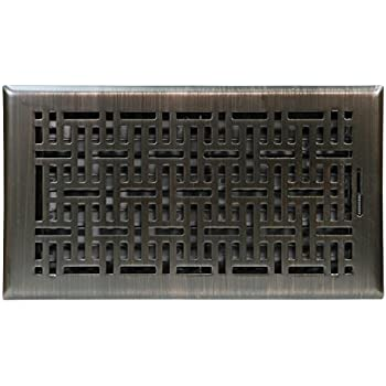 Accord Ventilation AMFRRBB612 Wicker Design Floor Register, Oil Rubbed Bronze, 6