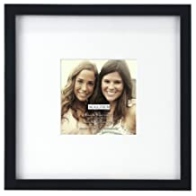 Malden Smartphone Collection Black Wood Picture Frame, 4 by 4-Inch and 8 by 8-Inch
