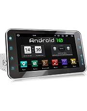 XOMAX XM-VA801 autoradio met Android 10, QuadCore, 2GB RAM, 32GB ROM, 8 Zoll / 20,3cm Touchscreen, GPS-navigatie I Support: WiFi WLAN, 3G 4G, DAB+, OBD2 I bluetooth, USB, SD, 1 DIN