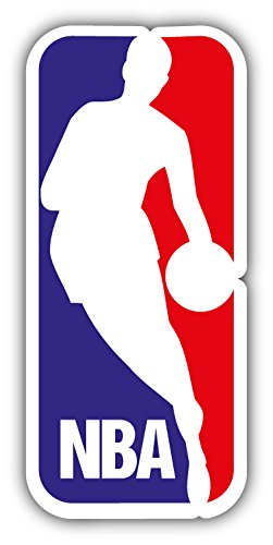 Cheap  NBA Basketball Logo Art Decor Vinyl Sticker 3'' X 6''