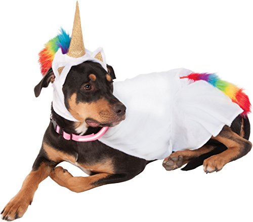 Rubie's Unicorn Cape with Hood and Light-Up Collar Pet Costume, -